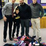 Boys Basketball Team with Collected Winter Apparel