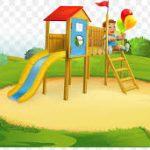 Cartoon style playground