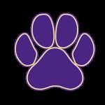 Purple paw logo
