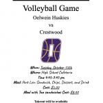 Basketball fundraiser flyer