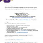 FAFSA assistance flyer