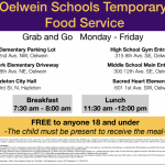 Temporary Food Service Flyer