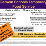 Grab and Go - Temporary Food Service Flyer