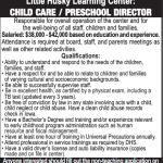 Child care help wanted ad
