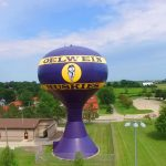 image of the city water tower