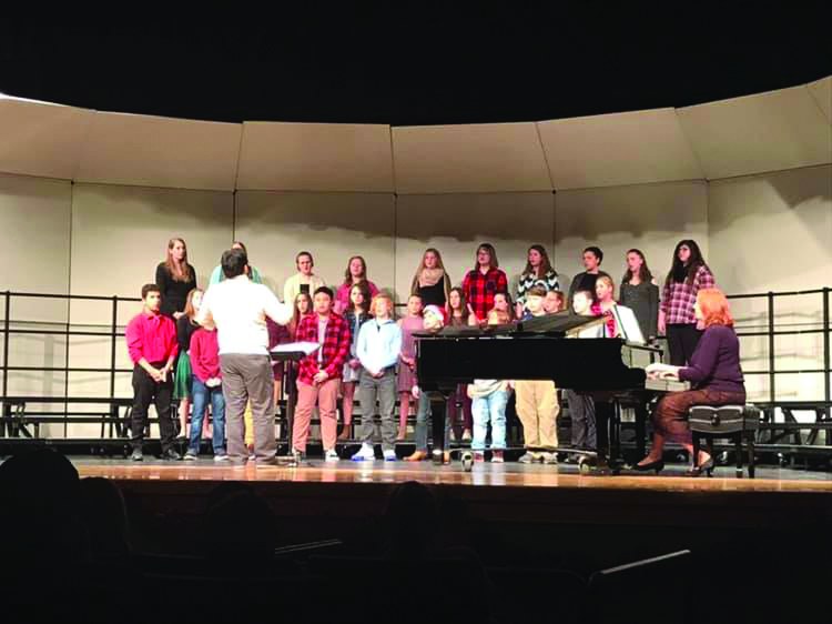 choir performs a concert