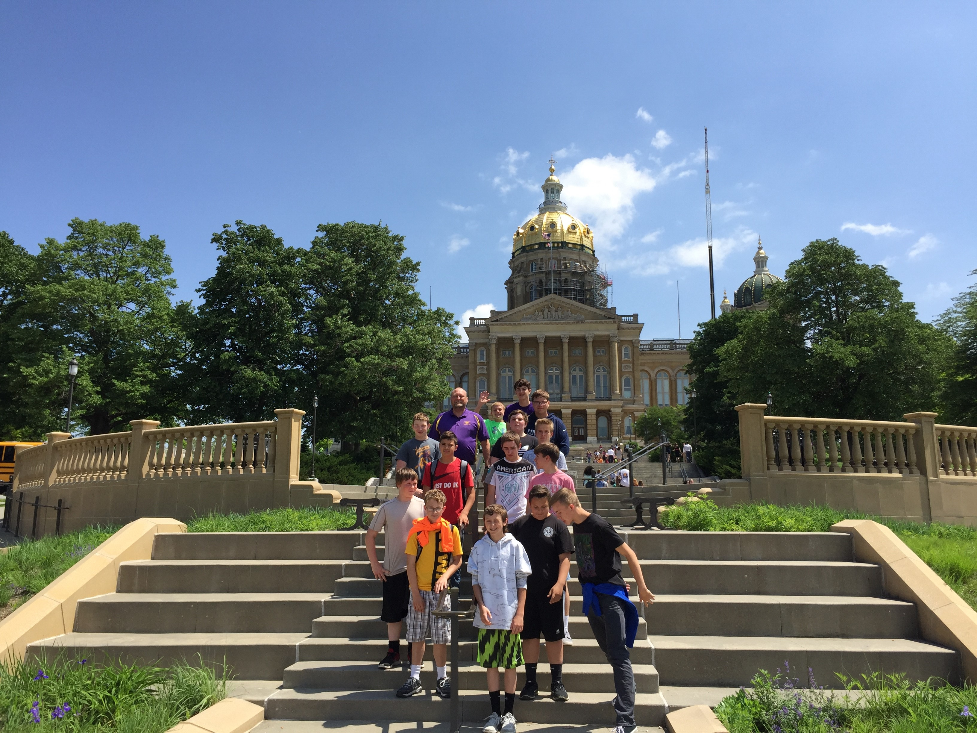 students visit the capitol